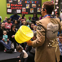 Bob Swanson, also known as Stormin' Swanson the singing weatherman performed Saturday at Healthworks 9th Birthday