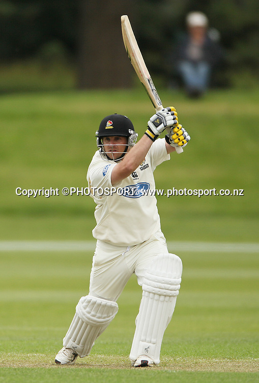Michael Papps batting for Wellington. Plunket Shield Cricket, Day 1 of the 4 Day match between Canterbury Wizards v Wellington Firebirds. Played at Mainpower Oval, Rangiora, Monday 19 November 2012. Photo : Joseph Johnson/photosport.co.nz