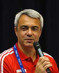 17.09.2011, Stadthalle, Wien, AUT, CEV, Europaeische Volleyball Meisterschaft 2011, Halbfinale, Italien vs Polen, im Bild Andrea Anastasi, (POL, Headcoach) // during the european Volleyball Championship Semi Final Italy vs Poland, at Stadthalle, Vienna, 2011-09-17, EXPA Pictures © 2011, PhotoCredit: EXPA/ M. Gruber