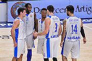 DESCRIZIONE : Eurolega Euroleague 2015/16 Group D Dinamo Banco di Sardegna Sassari - Maccabi Fox Tel Aviv<br /> GIOCATORE : Team Dinamo Banco di Sardegna Sassari<br /> CATEGORIA : Time Out Fair Play<br /> SQUADRA : Dinamo Banco di Sardegna Sassari<br /> EVENTO : Eurolega Euroleague 2015/2016<br /> GARA : Dinamo Banco di Sardegna Sassari - Maccabi Fox Tel Aviv<br /> DATA : 03/12/2015<br /> SPORT : Pallacanestro <br /> AUTORE : Agenzia Ciamillo-Castoria/L.Canu
