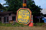 Drive slow sign, Kahekili Highway, Maui, Hawaii