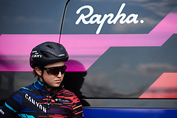 Rotem Gafinovitz (ISR) prepares for Healthy Ageing Tour 2019 - Stage 5, a 124.3 km road race in Midwolda, Netherlands on April 14, 2019. Photo by Sean Robinson/velofocus.com