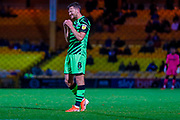 An anguished Forest Green Rovers Dayle Grubb(8) after a free kick during the EFL Sky Bet League 2 match between Port Vale and Forest Green Rovers at Vale Park, Burslem, England on 20 August 2019.