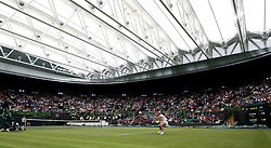 Kim Clijsters on No.1 court at The All England Lawn Tennis Club, London.