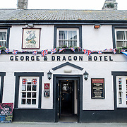 The George's Dragon Hotel in Beaumaris on the island of Anglesey of the north coast of Wales, UK.