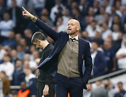 April 30, 2019 - London, England, United Kingdom - Erik ten Hag manager of Ajax.during UEFA Championship League Semi- Final 1st Leg between Tottenham Hotspur  and Ajax at Tottenham Hotspur Stadium , London, UK on 30 Apr 2019. (Credit Image: © Action Foto Sport/NurPhoto via ZUMA Press)