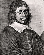 Tobias Andreae (1604-1676) German Calvinist. Professor of philosophy at Groningen University.   Engraving from From 'Icones Virorum' by Friedrich Roth-Scholtz (Nuremberg, 1725).