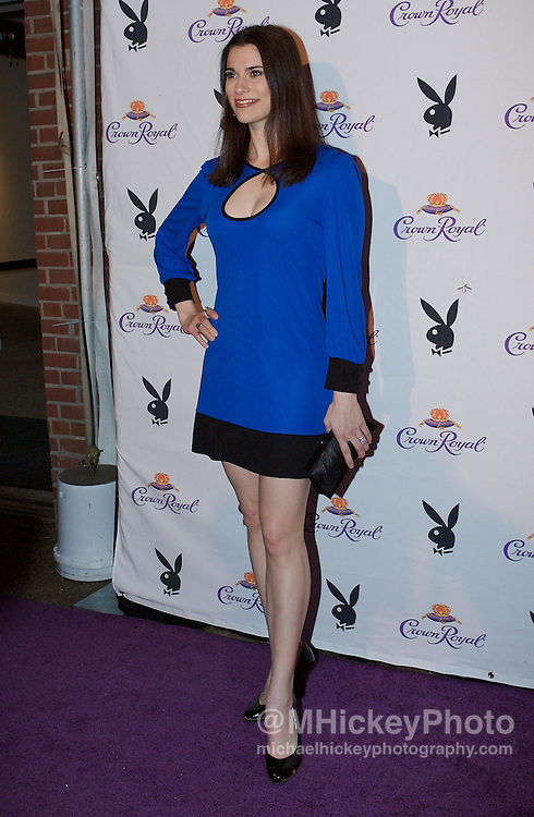 Milena Govich appears at the Kentucky Derby Crown Royal Playboy party in Louisville, Kentucky on May 4 , 2007. Photo by Michael Hickey