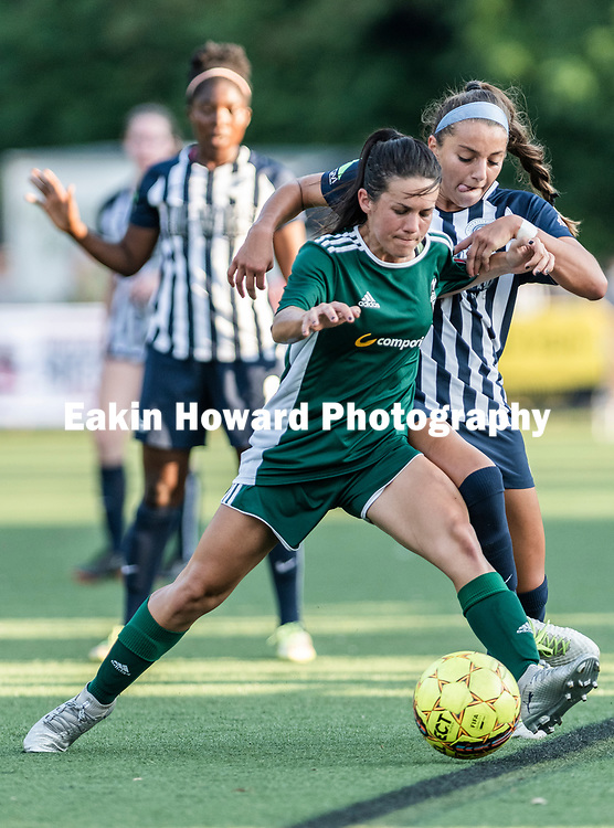 The Women's Asheville City Soccer Club defeated Discoveries Soccer Club 3-1 at Memorial Stadium in Asheville, NC on Jul 3, 2018.