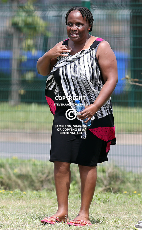 Mato Madlala Chairwoman of Golden Arrows during the 2016 Telkom Knockout: Golden Arrows media open day,Moses Mabhida Stadium outer fields, Durban, South Africa.20 October 2016 - (Photo by Steve Haag)