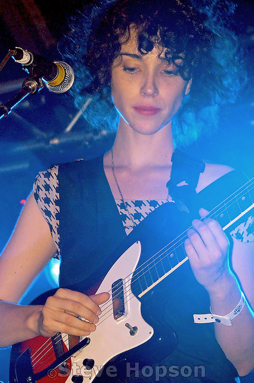 Annie Clark performs as St. Vincent at the Fun, Fun, Fun Festival in Austin Texas, November 9, 2008. Annie Clark (b. 1982, Tulsa, OK) is an American multi-instrumentalist, singer and songwriter who performs under the moniker St. Vincent. She was a member of The Polyphonic Spree and Sufjan Stevens' touring band.
