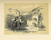 Tomb of Joseph at Shechem from The Holy Land : Syria, Idumea, Arabia, Egypt & Nubia by Roberts, David, (1796-1864) Engraved by Louis Haghe. Volume 1. Book Published in 1855 by D. Appleton & Co., 346 & 348 Broadway in New York.
