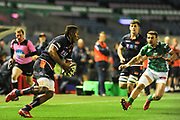 Viliame Mata on the ball during the Guinness Pro 14 2018_19 match between Edinburgh Rugby and Benetton Treviso at Murrayfield Stadium, Edinburgh, Scotland on 28 September 2018.