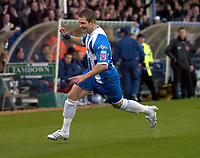 Photo: Olly Greenwood.<br />Colchester United v Stoke City. Coca Cola Championship. 16/12/2006. Colchester's Jamie Cureton celebrates scoring