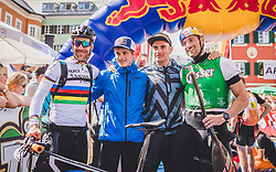 08.09.2018, Lienz, AUT, 31. Red Bull Dolomitenmann 2018, im Bild 3. Platz, Lakata Alban (AUT, Red Bull), Anton Palzer (GER, Red Bull), Rifesser Lukas (AUT, Red Bull), Hudetz Harald (AUT, Red Bull) // 3rd placed Lakata Alban (AUT, Red Bull), Anton Palzer (GER, Red Bull), Rifesser Lukas (AUT, Red Bull), Hudetz Harald (AUT, Red Bull) during the 31th Red Bull Dolomitenmann. Lienz, Austria on 2018/09/08, EXPA Pictures © 2018, PhotoCredit: EXPA/ JFK