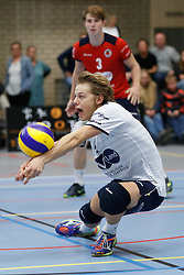 20181027 NED: Eredivisie, SV Land Taurus - Achterhoek Orion: Houten<br />Mats Bleeker (4) of SV Land Taurus<br />©2018-FotoHoogendoorn.nl / Pim Waslander