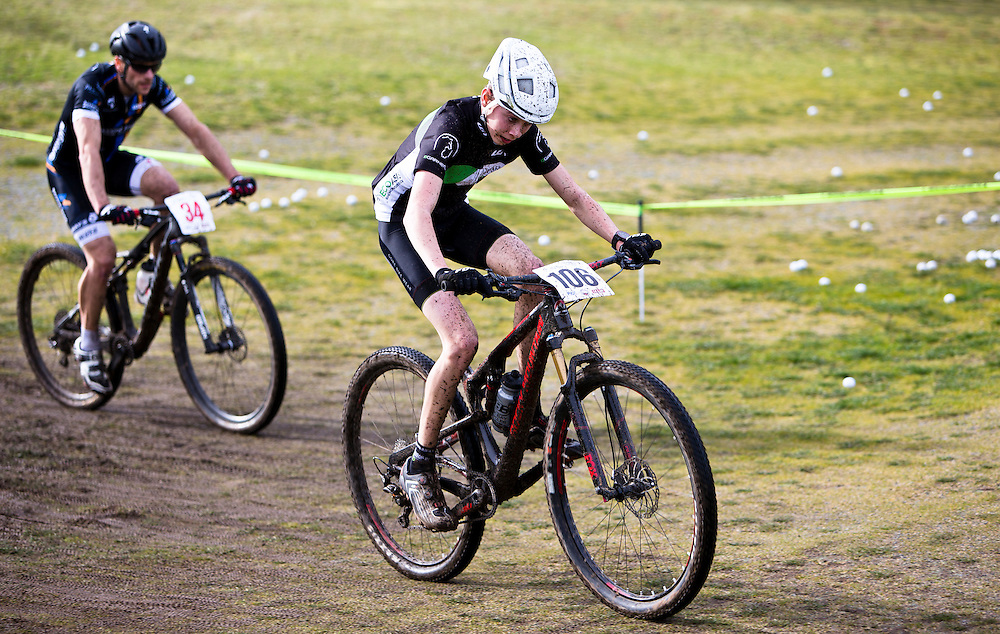 Junior rider with great potential Max McCulloch races at a Canada Cup race at Bear Mountain in Victoria B.C. Canada.