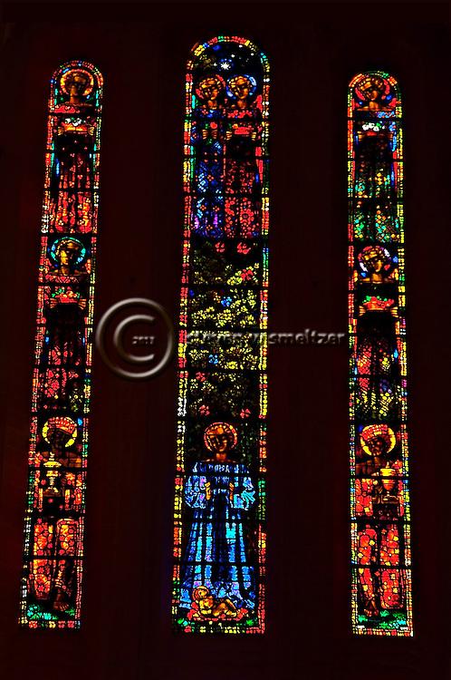 Sanctuary Stained Glass Grossmunster Zurich Switzerland