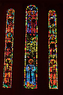 Sanctuary Stained Glass Grossmunster Zurich Switzerland