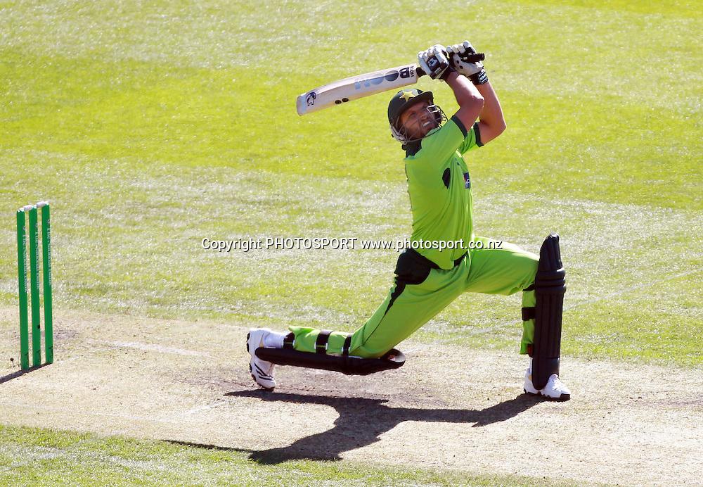 Pakistan captain Shahid Afridi batting during the 3rd ODI, Black Caps v Pakistan, One Day International Cricket. AMI Stadium, Christchurch, New Zealand. Saturday 29  January 2011. Photo: Andrew Cornaga/photosport.co.nz