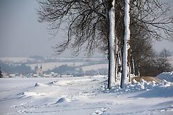 CZECH REPUBLIC VYSOCINA NEDVEZI 27JAN12 - Snowy winter landscape near the village Nedvezi, Vysocina, Czech Republic.....jre/Photo by Jiri Rezac....© Jiri Rezac 2012