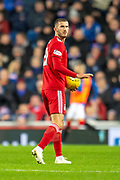 Dominic Ball (#21) of Aberdeen FC during the Ladbrokes Scottish Premiership match between Rangers and Aberdeen at Ibrox, Glasgow, Scotland on 5 December 2018.