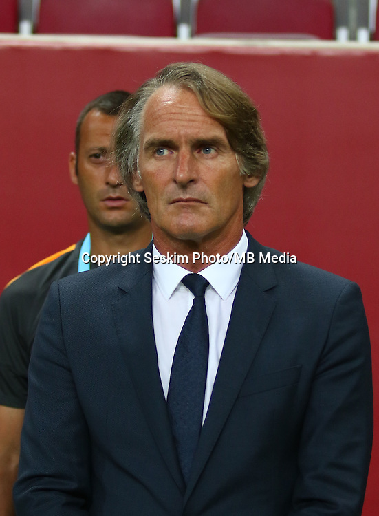 Turkey superlig match between Galatasaray and Kardemir Karabukspor at Turk Telekom Arena in Istanbul , Turkey , August 22  ,2016.<br /> Final Score : Galatasaray 1 - Kardemir Karabukspor 0<br /> Pictured: Coach Jan Olde Riekering of Galatasaray.