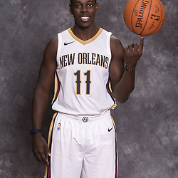 Sep 25, 2017; New Orleans, LA, USA; New Orleans Pelicans guard Jrue Holiday (11) during Media Day at the Smoothie King Center. Mandatory Credit: Derick E. Hingle-USA TODAY Sports