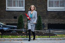 © Licensed to London News Pictures. 29/10/2018. London, UK. Work and Pensions Secretary Esther McVey arriving in Downing Street for a cabinet meeting, ahead of the Chancellor of the Exchequer Philip Hammond's autumn budget statement this afternoon. Photo credit : Tom Nicholson/LNP