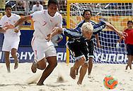 Footbal-FIFA Beach Soccer World Cup 2006 -  Oficial Games BHR x ARG - Ebrahim and Lopez R.- Brazil - 04/11/2006.<br />Mandatory Credit: FIFA/Ricardo Ayres