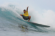 November 1st 2010: Ruben Roxburgh of Australia during the trails for the ASP World Longboard Championship at Makaha Oahu-Hawaii. Photo by Matt Roberts/mattrIMAGES.com.au
