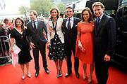 Feestelijke bijeenkomst t.g.v. 70ste verjaardag prof.mr. Pieter van Vollenhoven in het Beatrixtheater in Utrecht / Celebration of the 70th birthday of prof.mr. Pieter van Vollenhoven in the Beatrixtheatre in Utrecht.<br /> <br /> On the photo:<br /> <br />  Princes Annette Tjalling ten Cate , Prince Maurits and Princes Marilène and Princes Aimee and Prince Floris