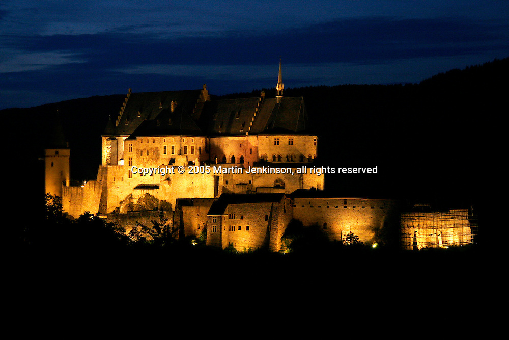 Castle Vianden, Luxembourg at night ..., Travel, lifestyle