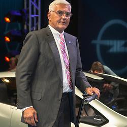 Bob Lutz, GM's preview party, Geneva