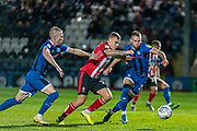 Rhys Norrington-Davies of Rochdale AFC chases the ball  during the EFL Sky Bet League 1 match between Rochdale and Lincoln City at the Crown Oil Arena, Rochdale, England on 17 September 2019.