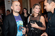 MARC QUINN; NATALIE MASSENET, Harper's Bazaar Women Of the Year Awards 2011. Claridges. Brook St. London. 8 November 2011. <br /> <br />  , -DO NOT ARCHIVE-© Copyright Photograph by Dafydd Jones. 248 Clapham Rd. London SW9 0PZ. Tel 0207 820 0771. www.dafjones.com.