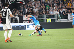 April 22, 2018 - Torino, Piemonte, Italy - in the fotoscintro between Benatia della juventus and mario rui from napoli22 April 2018 - Turin, Italy - final match between F.C. Juneventu and SSC Napoli, at the Allianz Stadium in Turin, which is awarded the Scudetto in Serie A in Italy..Napoli wins 1-0. (Credit Image: © Fabio Sasso/Pacific Press via ZUMA Wire)