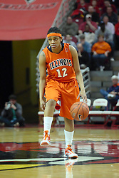 28 March 2010: Lydia McCully. The Redbirds of Illinois State squeak past the Illini of Illinois 53-51 in the 4th round of the 2010 Women's National Invitational Tournament (WNIT) on Doug Collins Court inside Redbird Arena at Normal Illinois.