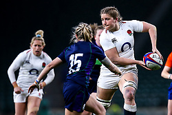 Poppy Cleall of England Women takes on Chloe Rollie of Scotland Women - Mandatory by-line: Robbie Stephenson/JMP - 16/03/2019 - RUGBY - Twickenham Stadium - London, England - England Women v Scotland Women - Women's Six Nations