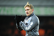 AJ Leitch-Smith prior to the Sky Bet League 1 match between Port Vale and Southend United at Vale Park, Burslem, England on 26 February 2016. Photo by Mike Sheridan.