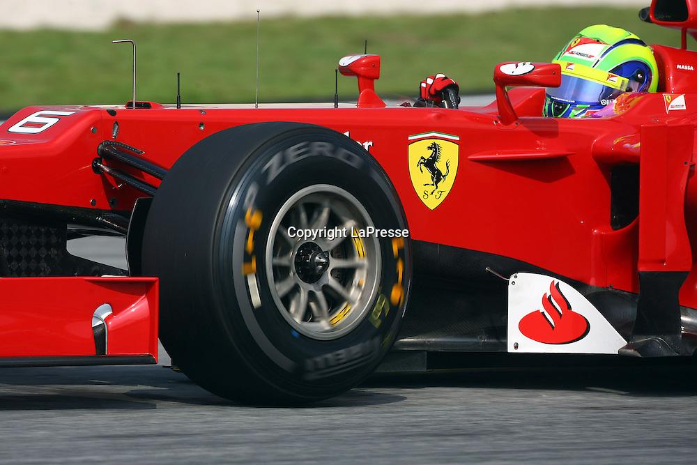&copy; Photo4 / LaPresse<br /> 23/3/2012 Sepang<br /> Malaysian Grand Prix, Sepang 2012<br /> In the pic: Felipe Massa (BRA), Scuderia Ferrari, F2012