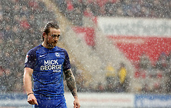 Jack Marriott of Peterborough United in the pouring rain - Mandatory by-line: Joe Dent/JMP - 30/03/2018 - FOOTBALL - Aesseal New York Stadium - Rotherham, England - Rotherham United v Peterborough United - Sky Bet League One