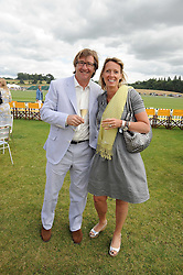 JOHN & ANNOUSHKA AYTON founders of Links of London at the 2008 Veuve Clicquot Gold Cup polo final at Cowdray Park Polo Club, Midhurst, West Sussex on 20th July 2008.<br /> <br /> NON EXCLUSIVE - WORLD RIGHTS