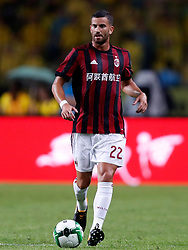 GUANGZHOU, July 18, 2017 Mateo Musacchio of AC Milan controls the ball during the 2017 International Champions Cup(ICC) China soccer match between AC Milan and Borussia Dortmund at Guangzhou University Town Sports Center Stadium in Guangzhou, capital of south China's Guangdong Province, on July 18, 2017. AC Milan lost 1-3. (Credit Image: © Wang Lili/Xinhua via ZUMA Wire)