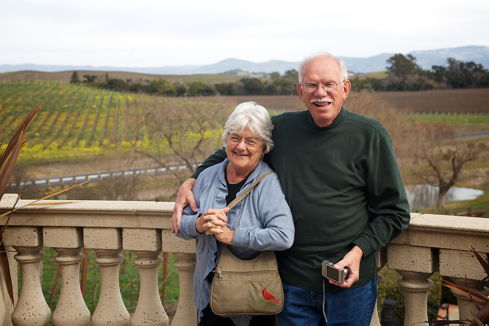 Mom & Dad at Domaine Carneros in Sonoma