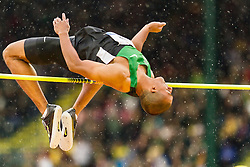 Ashton Eaton, Decathlon, high jump, on his way to setting world record at USA Olympic Trials