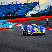 Lola T 70 and Porsche 962 at the Silverstone Classic Media Day on 27 April 2016