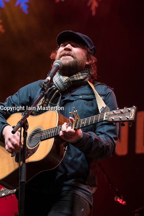 Scott Hutchison of Frightened Rabbit perform at  Sleep in the Park, held in Princes Street Gardens in Edinburgh, saw almost 9000 people sleep outdoors to raise money and awareness of homelessness.