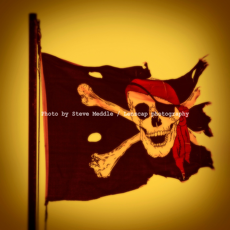 Torn and Ripped Jolly Roger Flag