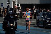 Sondre Nordstad Moen (NOR) wins the 2017 Fukuoka Marathon in 2:05:48 in Fukuoka, Japan on Sunday, Dec. 3, 2017.  (Kazuaki Matsunaga/ Image of Sport)